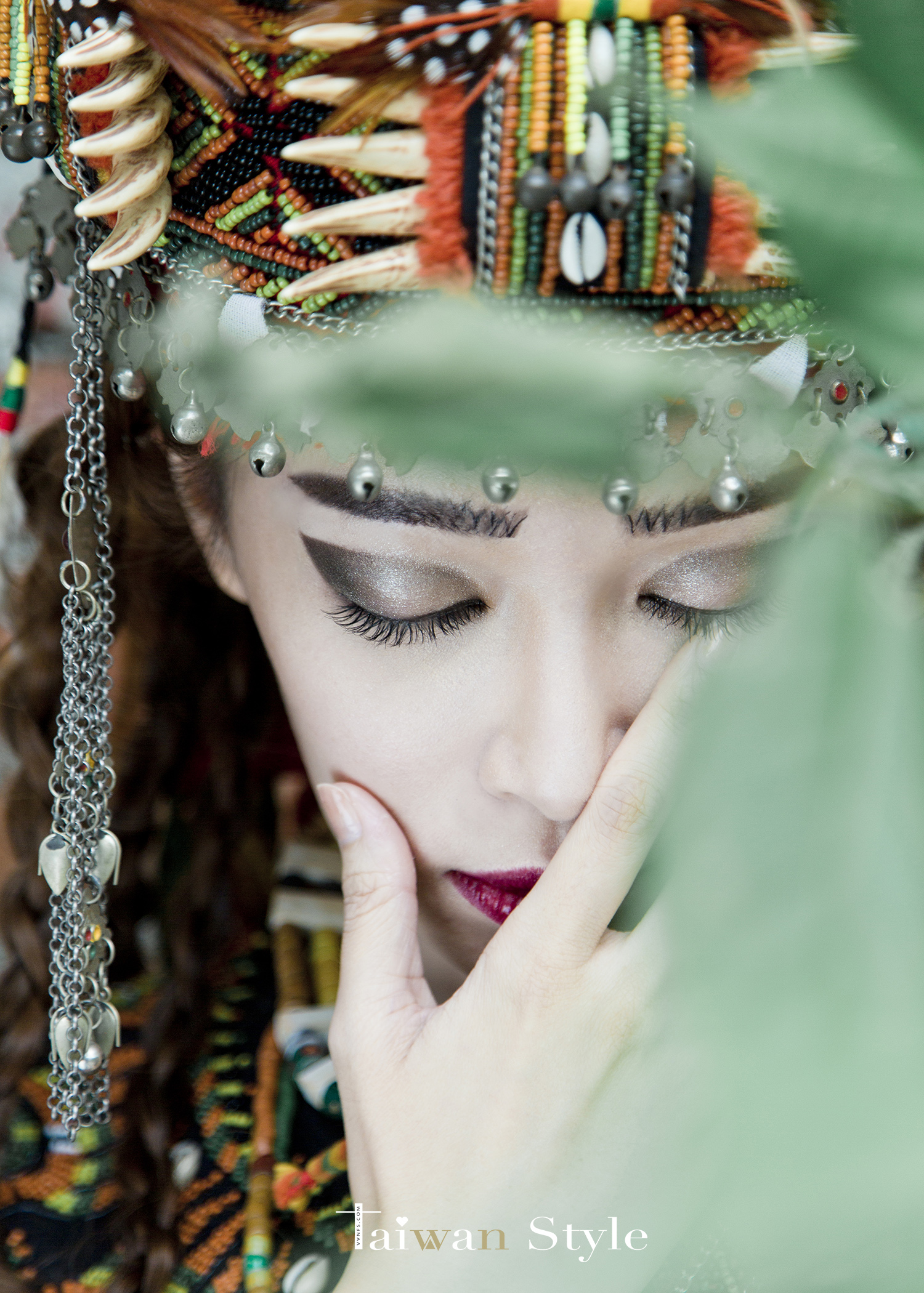 看見台灣百年婚紗之美-原住民排灣魯凱族造型之美-新娘物語 x VVNFS方美玉台南新秘8
