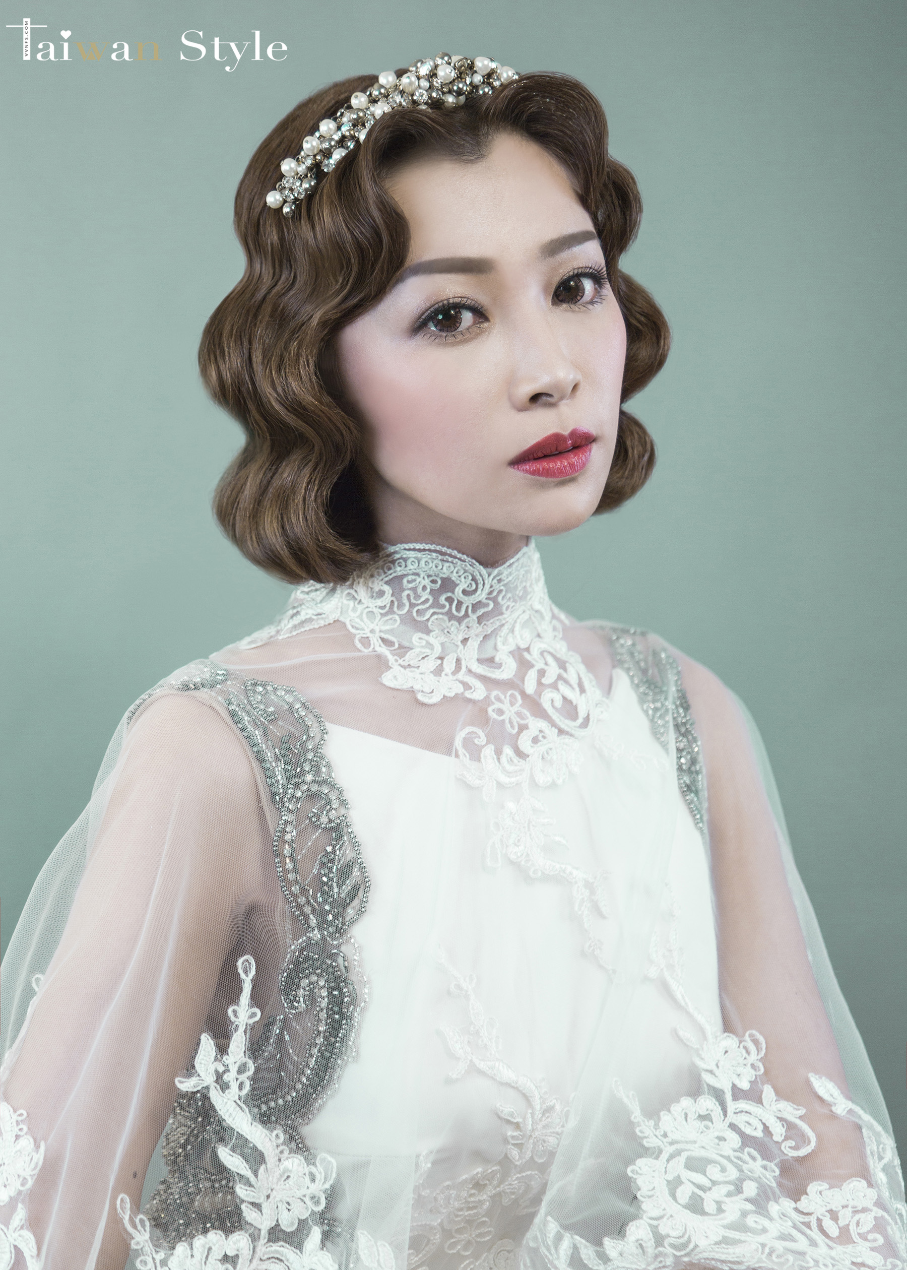 看見台灣百年婚紗之美-1960奶奶時代-新娘物語 x VVNFS方美玉台南新秘1