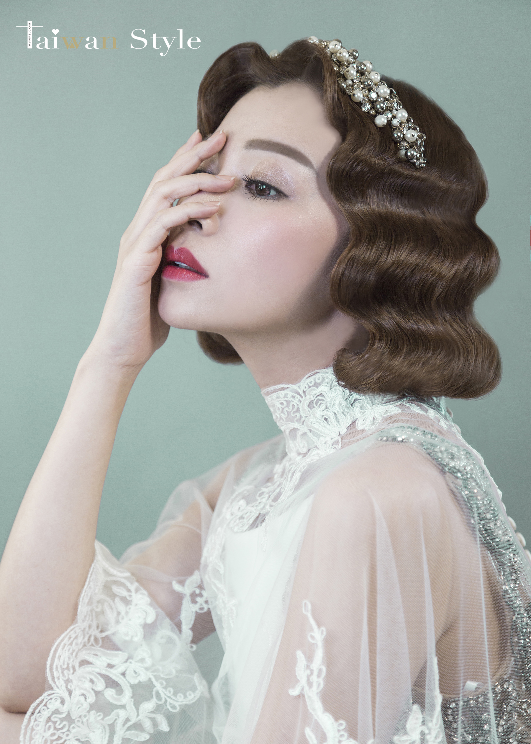 看見台灣百年婚紗之美-1960奶奶時代-新娘物語 x VVNFS方美玉台南新秘2