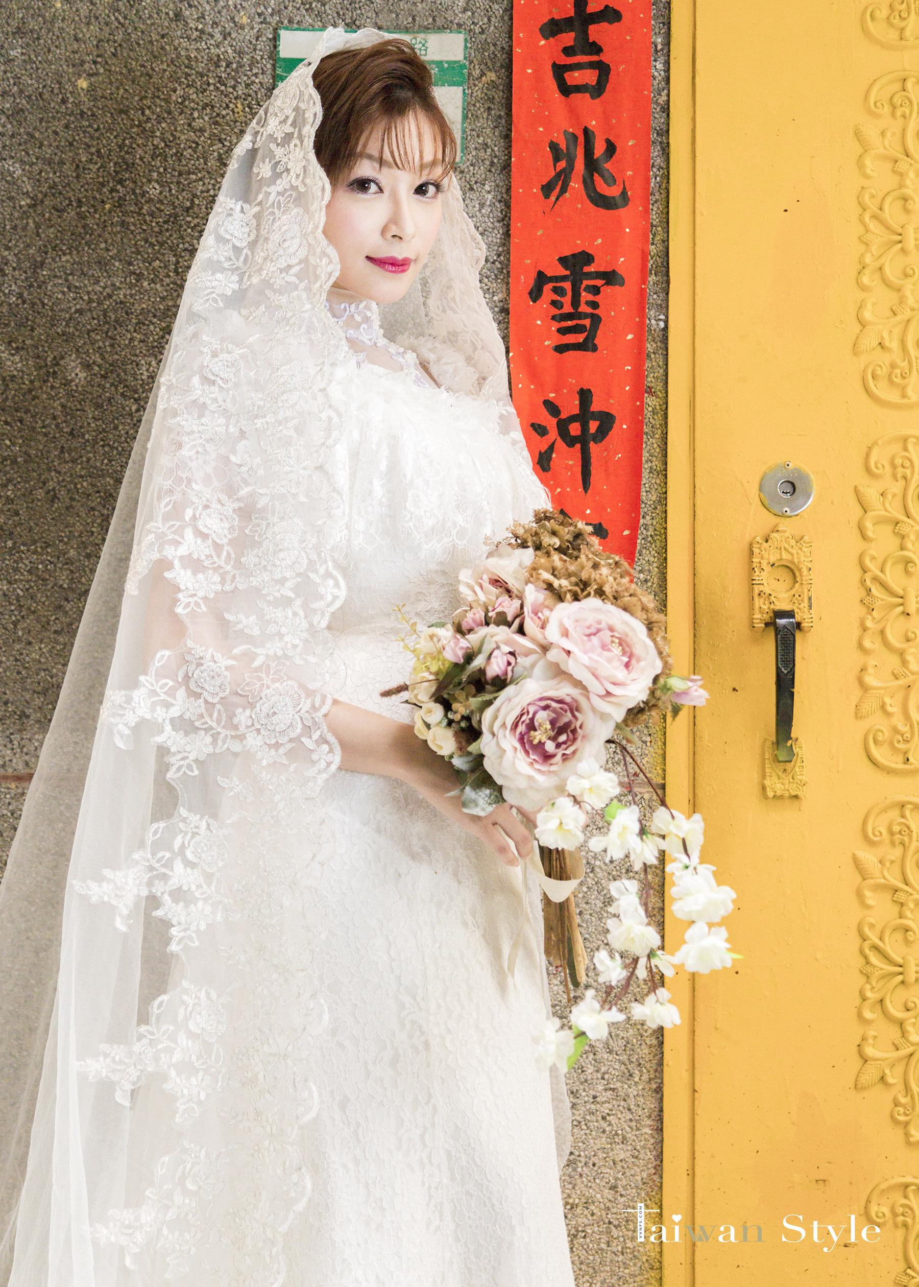 看見台灣百年婚紗之美-1980媽媽時代-新娘物語 x VVNFS方美玉台南新秘4
